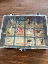 10 Vintage Fly Fishing Flies With Carrying Case