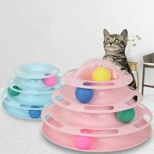 Cat Toy Tower Tracks Disc Cat Intelligence Amusement Disk Play Track Cat Toys