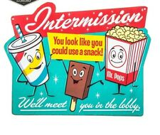 Intermission Embossed Sign Movie Theater Wall Art  Home Decor SIGN New