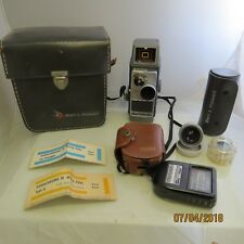 Vintage Bell & Howell Electric Eye Movie Camera w/ Various Accessories Case