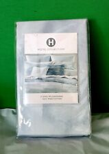 Hotel Collection King Pillow Sham 100% Pima Cotton Blue/White Ethereal Pattern.