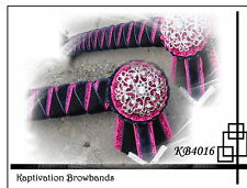 KAPTIVATION BROWBANDS - BLING DIAMONTE  - Navy, Hot Pink & Silver - ANY SIZE
