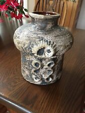 West German Pottery Carstens Mooncrater Vase