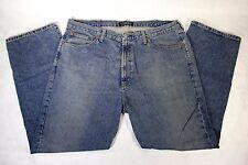 Pair of Men's Ralph Lauren Polo Medium Wash Blue Baggy Jeans Size 36 x 27.5