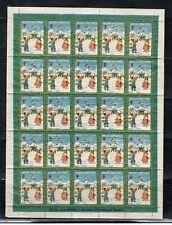 1936 KOREA  ASIA  STAMPS CHRISTMAS SEALS SHEET MINT NEVER HINGED  LOT 5002