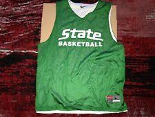 Vintage Michigan State Spartans Basketball Team Practice Nike Jersey L mens MSU