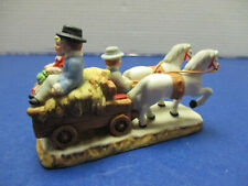 Lefton Colonial Christmas Village Accessory Hayride Wagon w/ Couple