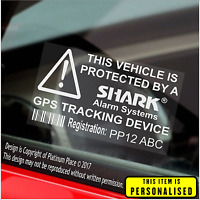 PERSONALISED Car,Van,Security Stickers-Shark Alarm Systems GPS Tracker Signs
