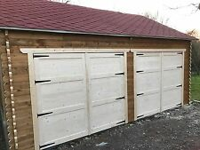 Log Cabin 6 by 5 meters, double garage ,inc felt roof shingles, we make any size