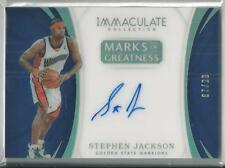 2017-18 IMMACULATE MARKS OF GREATNESS ACETATE STEPHEN JACKSON AUTO 87 99! 80979c790