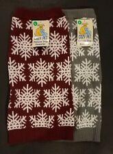 Cozy Pet Dog Knit Sweaters Medium - Winter Pattern Gray White Navy AU