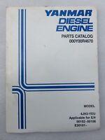 Yanmar Diesel Engines Parts Catalog 000Y00R4670 Service Manual OEM 4JH3-YEU