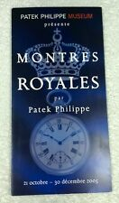 PATEK PHILIPPE Museum Timepieces for Royalty 2005 Brochure 1850-World War I