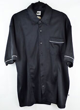 FISHBONE Mens Black Button Down Shirt Mens Size XL Extra Large Short Sleeve