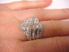 !BEAUTIFUL LADIES TWO TONE GOLD 1.25 CT T.W. DIAMOND DESIGNER RING, 7.1 GRAMS