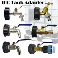"""IBC Tank Adapter S60X6 To Garden Tap With 1/2"""" 3/4"""" 1"""" Hose Fitting Fuel Water"""