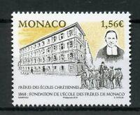 Monaco 2018 MNH Ecole des Freres School 1v Set Architecture Education Stamps