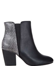 BNWT Black/Monochrome Snake Print Ankle Boot |Size 38/7 AU| RRP $99.95 BRAND NEW
