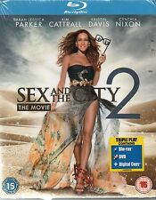 SEX AND THE CITY 2 (BLU-RAY / DVD / DIGITAL COPY 2010, 2-DISC SET) NEW SEALED