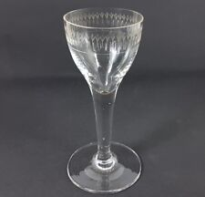 Glas Becher Fußbecher, handgraviert, um 1800 AL246