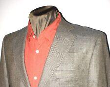 Jones New York 2btn gray taupe blue glen plaid Dual Vent sport coat blazer  40R
