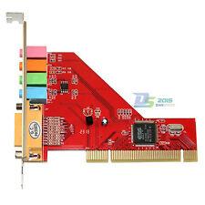 PCI Computer 4 Channel CH 3D Audio PC Sound-Card Game-Port C-Media XP Win98/2000