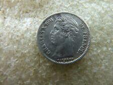 CHARLES X : rare 1/4 de franc 1827 A     réf FA 08