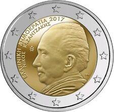 "2 Euro commemorative Grèce 2017 ""Nikos Kazantzakis"" UNC"
