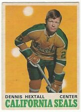1970-71 OPC HOCKEY #186 DENNIS HEXTALL 2ND YEAR - EXCELLENT-