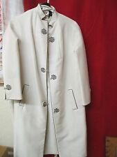 Vintage Hong Kong Royal India Tailors Chinese style cream A Line Dress w/ Coat