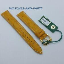 Yellow Ostrich Leather Strap 15mm 15/14 NEW GENUINE ORIGINAL Kaufmann