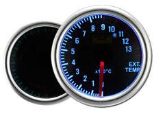 Motor Meter SMOKE LED Blau Zusatzanzeige Zusatzinstrument Abgastemperatur