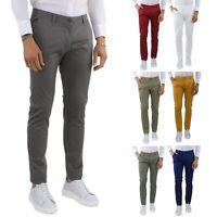 Pantaloni Uomo Slim Fit Eleganti Primaverili Cotone Pantalone Chino Elasticizzat