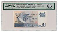 SINGAPORE banknote 1 DOLLAR 1976. PMG MS-66 EPQ