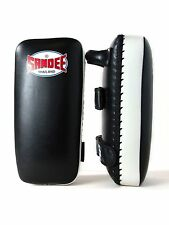 Sandee Muay Thai Kick Pads plat Focus Pads Strike Shield Kick Boxing Noir Boxe