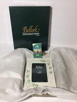 "Belleek Tara Frame 8.75"" X 6.75"" Embossed Shamrocks Celtic Knots W/ Box 4x6"