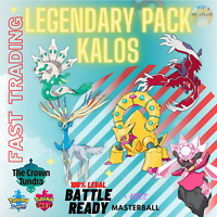Pokémon Sword & Shield CROWN TUNDRA KALOS LEGENDARY BUNDLE 6IV TRADING NOW