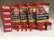 4 X Winston Tabak / Volumen-Tabak 200g, 1000 Hülsen, Etui, 4 Feuerzeuge