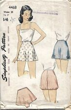 Vintage 1940's Sewing Pattern Lady's Pants Panties Knickers Bloomers WWII W 28""