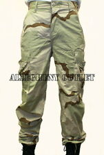 US Military 3 Color Desert Camo Ripstop DCU BDU PANTS Extra Small / Long NEW