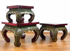 Opiumtisch mit Glasmosaik Beistelltisch Couchtisch (Handarbeit) Asia Möbel