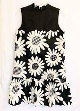 Victoria Beckham For Target Daisy Black/White Dress Sleeveless Size S