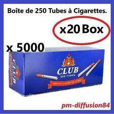 5000 TUBES à Cigarettes avec Filtre. CLUB - (20 Boîtes de 250 Tubes) - CLUB