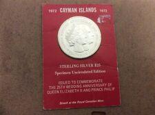 La Regina Elisabetta... ISOLA DELLE Cayman $25.00 Argento Sterling ANNIVERSARIO MONETA.