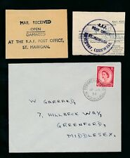 GB RAF STATION POST OFFICE ST MAWGAN CORNWALL...3 ITEMS...ENVELOPE + 2 PIECES
