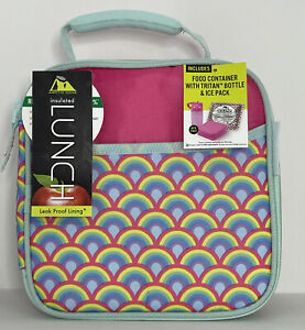 Arctic Zone Lunch Box Combo with Accessories & Microban® Protected, Rainbow, New