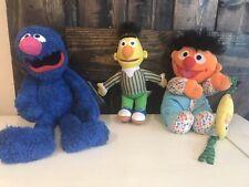 Bert ,Grove,& babyErnie With Duck Plush Dolls Sesame Street