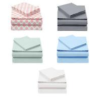 Cotton Rich 200 Thread Count Sheet Set 4 Piece Deep Pocket Fitted Sheet Queen