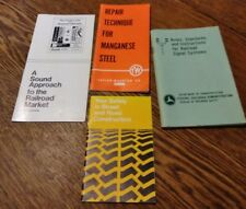 Lot of 4 Railroad Train Market, Repair Maganese and Signal Systems 1969-1977