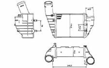 NRF Radiador de aire admisión VOLKSWAGEN PASSAT AUDI A4 SKODA SUPERB 30131